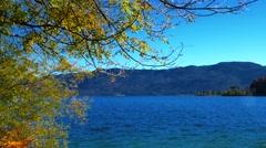 Autumn at Lake Walchensee, Bavaria, Germany Stock Footage