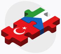 Stock Illustration of Turkey and Equatorial Guinea Flags