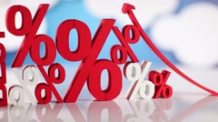 interest rate, business and finance concept - stock footage