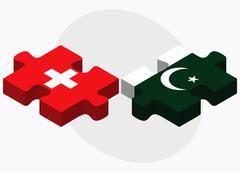 Switzerland and Pakistan - stock illustration