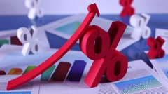 Interest rate, business and finance concept Stock Footage
