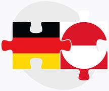 Stock Illustration of Germany and Greenland Flags