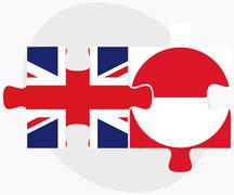 Stock Illustration of United Kingdom and Greenland Flags
