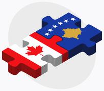 Stock Illustration of Canada and Kosovo Flags