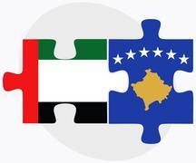 Stock Illustration of United Arab Emirates and Kosovo Flags