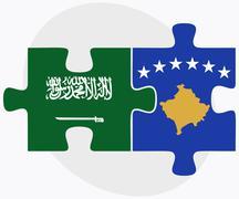 Stock Illustration of Saudi Arabia and Kosovo Flags