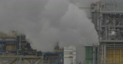 Polluting factory anywhere in Sicily Stock Footage
