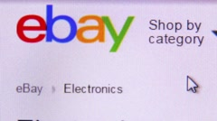Surfing ebay website - stock footage