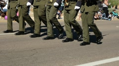US Border Patrol Marching Stock Footage