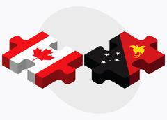 Stock Illustration of Canada and Papua New Guinea Flags
