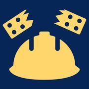 Stock Illustration of Brick Helmet Accident Icon