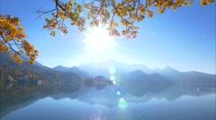 Autumn at Lake Kochel, Bavaria, Germany Stock Footage