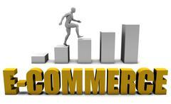 E-commerce - stock illustration