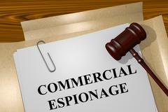 Commercial Espionage concept - stock illustration