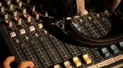 Sound music mixer control panel Stock Footage