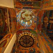 Interior, Cathedral of Transfiguration of the Saviour, Monastery of Saint Eut - stock photo