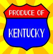 Produce Of Kentucky Shield - stock illustration