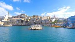 Jaffa - Pan left time lapse of the old city and port Stock Footage