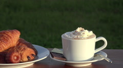 Cappuccino whith chantilly cream, Stock Footage