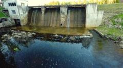 Aerial footage. Dam. Stock Footage