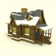 Low Poly Winter House 3D Model