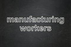Industry concept: Manufacturing Workers on chalkboard background Stock Illustration