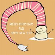 Stock Illustration of Vector comic cartoon merry christmas illustration