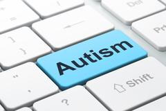 Medicine concept: Autism on computer keyboard background Stock Illustration