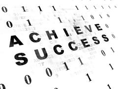 Stock Illustration of Business concept: Achieve Success on Digital background