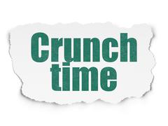 Finance concept: Crunch Time on Torn Paper background Stock Illustration