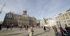 Amsterdam tourism Dam square Stock Footage