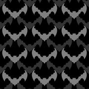 Bats seamless pattern. Background of flying animals. Black ornament from  blo Piirros