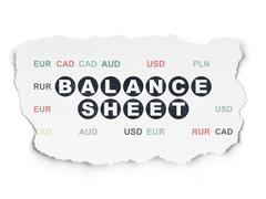 Stock Illustration of Banking concept: Balance Sheet on Torn Paper background