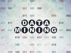 Stock Illustration of Data concept: Data Mining on Digital Paper background
