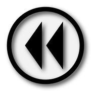 Stock Illustration of Rewind icon. Internet button on white background..