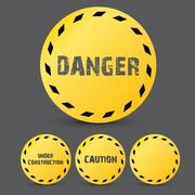 Yellow security warning tapes set Caution - stock illustration