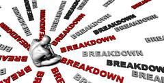 Breakdown Stock Illustration