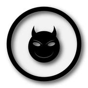 Stock Illustration of Evil icon. Internet button on white background..