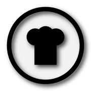 Chef icon. Internet button on white background.. Stock Illustration