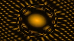 Gold circles in rotate - Full HD Footage Stock Footage