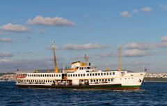 A ferry from Bosphorus, Istanbul - stock photo