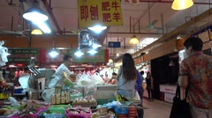 Traditional fresh market,Sauces store,guangzhou Stock Footage
