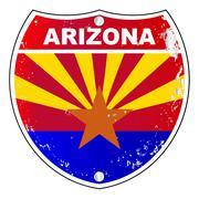 Arizona Interstate Sign - stock illustration