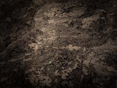 grungy painted black  brown wall - stock photo