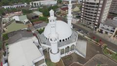 Aerial - Mesquita Omar Ibn Al-Khatab/Foz do Iguacu 02 Stock Footage