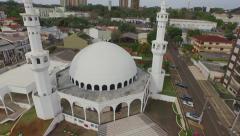 Aerial - Mesquita Omar Ibn Al-Khatab/Foz do Iguacu 01 Stock Footage
