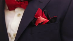 Groom corrects scarf Stock Footage