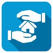 Realty insurance Longshadow Icon Stock Illustration