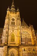 St. Vitus Cathedral, Prague, Czech Republic - stock photo