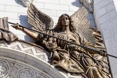 Detail of Christ the Savior cathedral in Moscow - stock photo